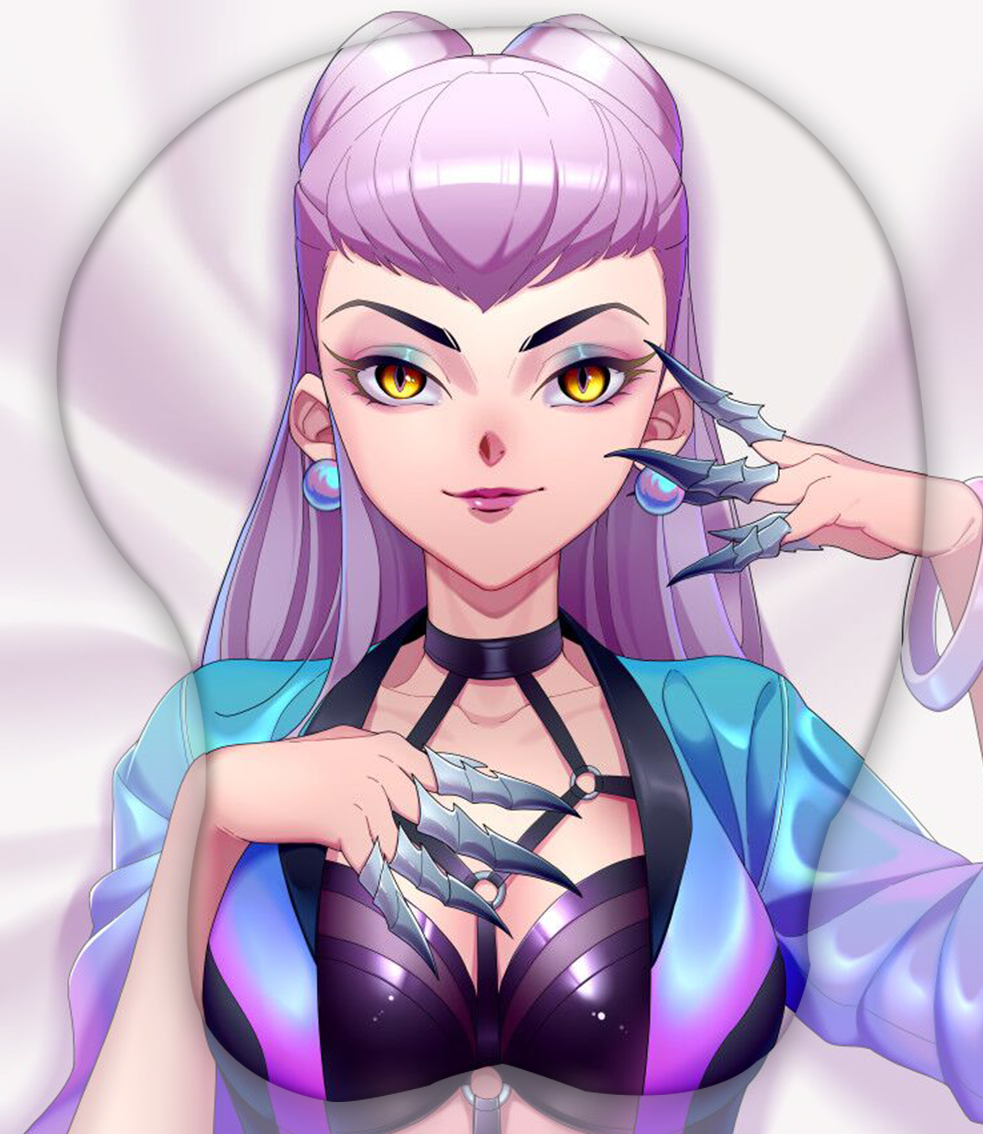 kda all out evelynn 3d oppai mouse pad 3207 - Boobie Mouse Pad