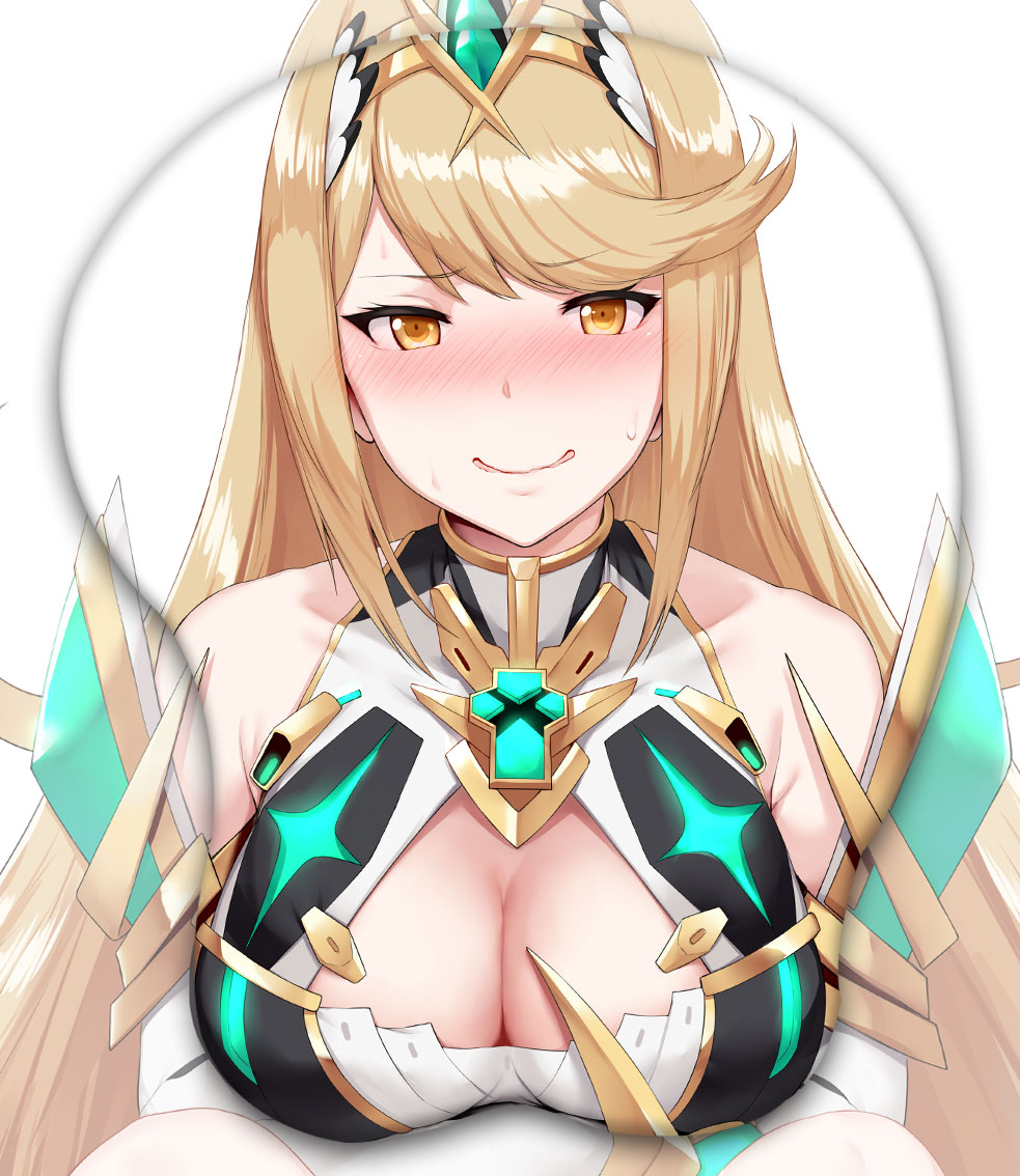 mythra 3d oppai mouse pad 4565 - Boobie Mouse Pad
