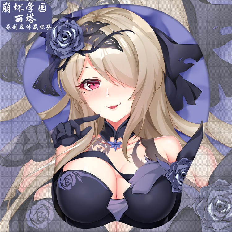 rita rossweisse 3d oppai mouse pad 2312 - Boobie Mouse Pad