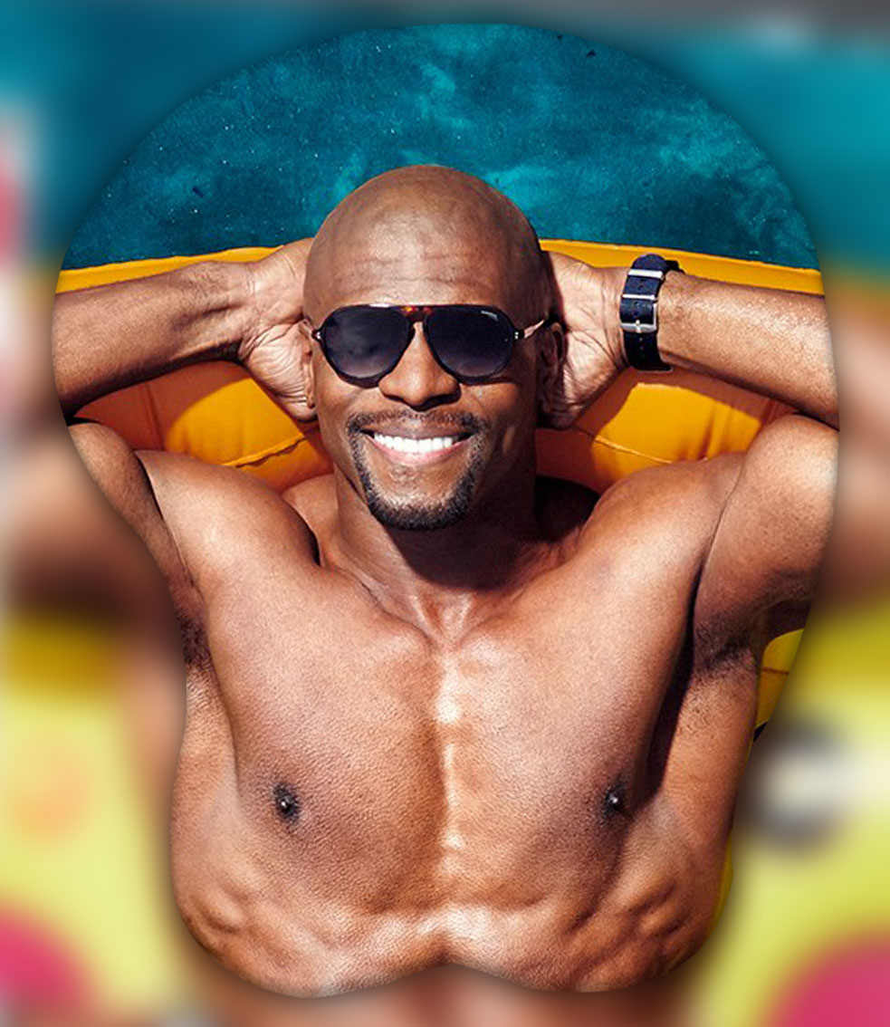 terry crews 3d oppai mouse pad 4493 - Boobie Mouse Pad